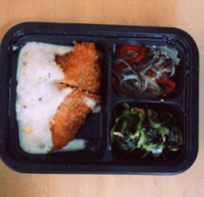 鮭フライのグラタン風弁当